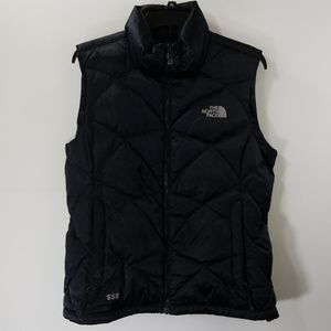 The North Face Black Zip Up Quilted Vest Size M